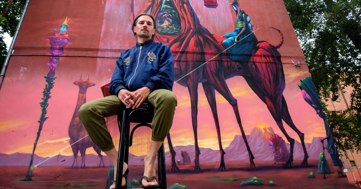 Стрит-арт в Иркутске: интервью суличным художником Степаном Шоболовым, изображающим Иркутск после апокалипсиса