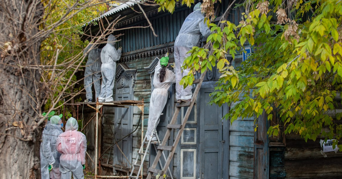 Жителям Иркутска предложили привести в порядок фасады домов. - Верблюд в огне