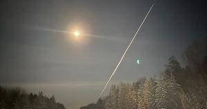 Фото: яркий метеор пролетел над Иркутской областью