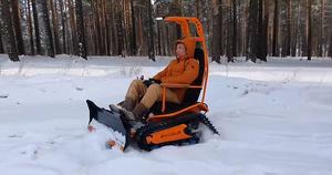 Иркутянин создал робота для уборки снега - Верблюд в огне