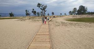 На Сарайском пляже построят километр экотропы