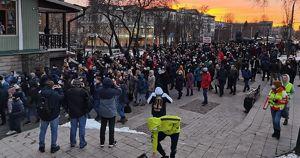 В Иркутске прошло шествие в поддержку Алексея Навального